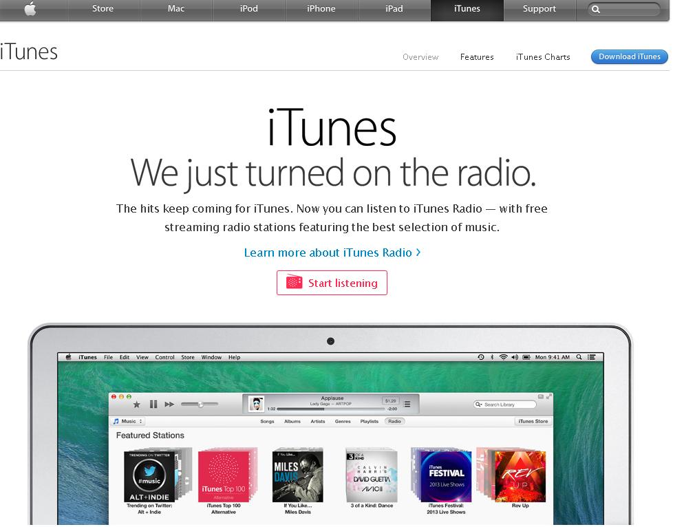 iTunes Music Store - design music catalogues