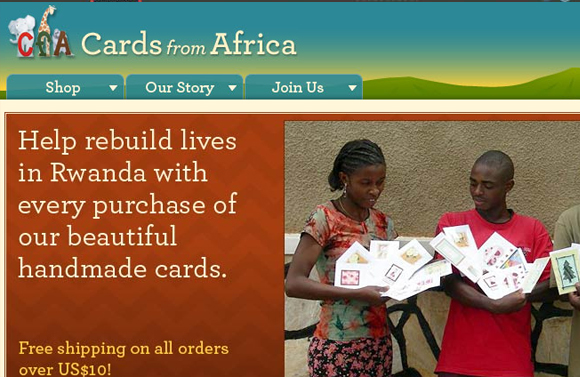 Cards from Africa - employment handcrafting greeting cards