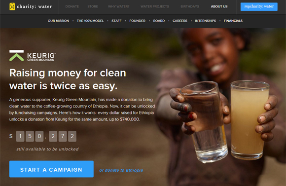charity: water - non-profit organization bringing Clean Drinking Water for Developing Countries