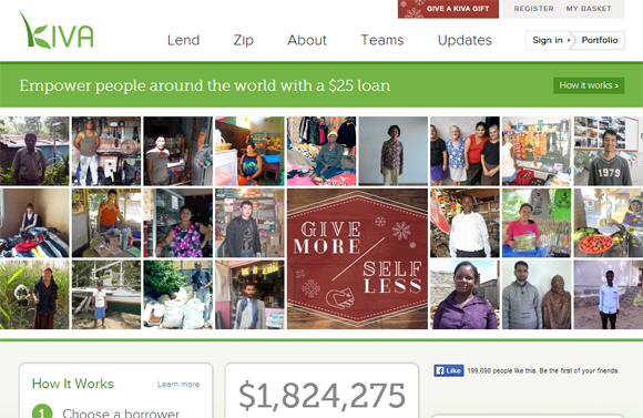 A non-profit organization connecting online lenders to entrepreneurs